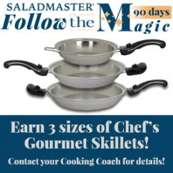 Earn 3 sizes of Chef Skillets!