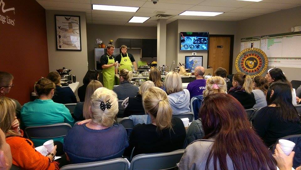 Food enthusiasts gather for nutrition education, food and fun at Healthy & Happy Cooking, an Authorized Saladmaster Dealership