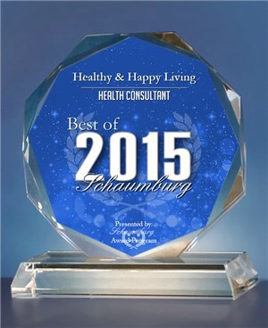 The Best of Shaumburg Award Program honors small businesses, like Healthy & Happy Living, that demonstrate excellent marketing success, community involvement, and innovative business practices in the marketplace.