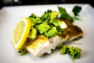 Saladmaster Recipe Sea Bass with Avocado Salsa