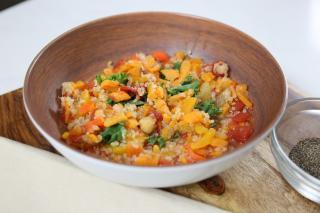 Quinoa, soup, vegetables, healthy,
