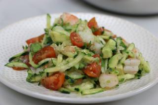 Avocado, Shrimp, Salad, healthy, tomatoes, cucumbers