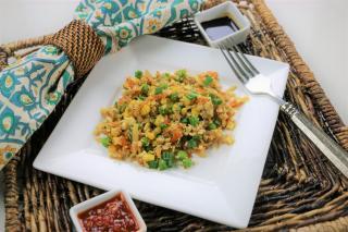 Cauliflower, fried rice, chinese, veggie, vegetarian