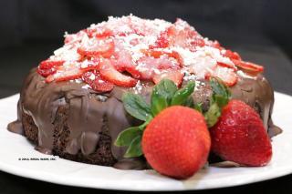 Saladmaster 316Ti Recipe Chocolate Cake with Strawberries