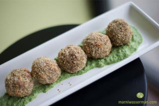 Saladmaster Recipe Spinach Almond Patties by Marni Wasserman