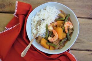 shrimp, vegetables, stew, filipino