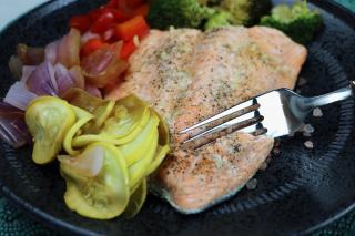 salmon, glaze, healthy, fish