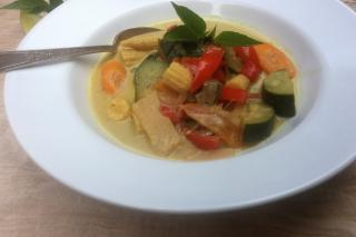 curry, vegetables, soup