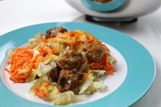 stuff, saladmaster, beef, meatballs, vegetables, potatoes, carrots, cheese