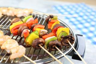 Saladmaster Smokeless Broiler Grilled Kabobs