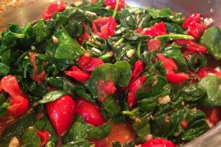 Saladmaster Health Solutions 316Ti Cookware: Sauteed Spinach & Tomatoes