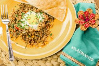saladmaster lamb, middle eastern, eggs, breakfast