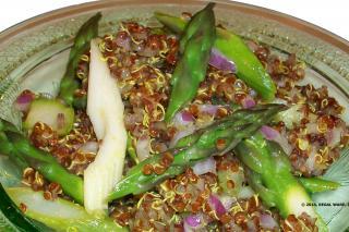 Saladmaster 316Ti Recipe Quinoa Asparagus Salad with Lemon Caper Dressing