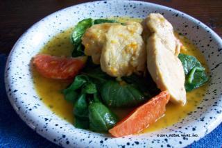 Saladmaster Recipe Orange-Maple Chicken on Wilted Spinach