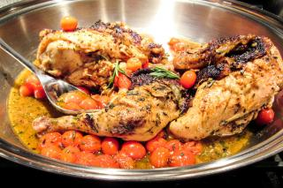 chicken, cherry tomatoes, roasted chicken, grand gourmet