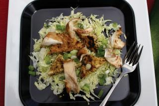 Saladmaster 316 Ti Cookware Recipe: Crispy Tofu with Shitake Mushrooms and Cabbage