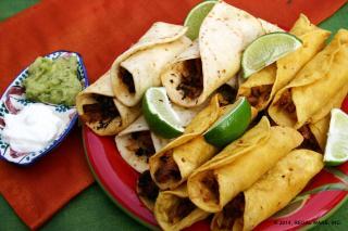 Saladmaster Recipe Chicken Taquitos with Chipotle Sauce