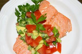 Saladmaster Recipe Salmon with Avocado Salsa