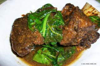 Saladmaster Recipe Braised Short Ribs in Adobo Sauce with Spinach by Cathy Vogt