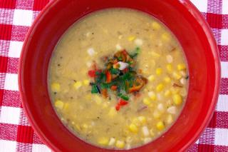 Saladmaster Recipe Fresh Corn Chowder with Pepper Relish