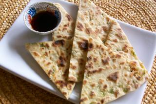 Saladmaster Recipe Scallion Flatbread by Cathy Vogt
