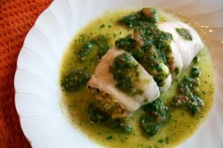 Saladmaster Recipe Crabmeat Stuffed Flounder with Tomato Parsley Dressing