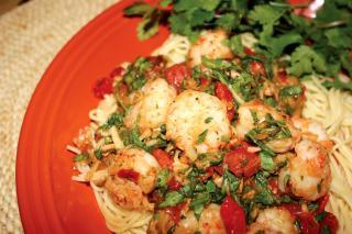 Saladmaster 316Ti Cookware: Shrimp Pasta with Tarragon and Arugula