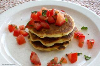 Saladmaster Recipe Sweet Corn & Cheddar Pancakes by Cathy Vogt