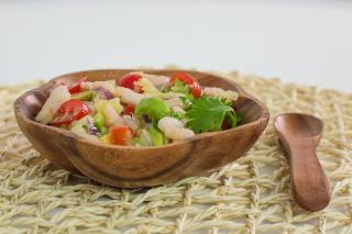 Tropical, Salad, Ceviche, Shrimp, Avocado, Pineapple, jamaican, Caribbean