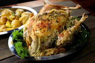 turkey, holiday, rosemary garlic,