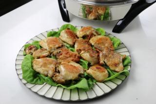 saladmaster chicken, fried chicken, unfried, saladmaster electric skillet