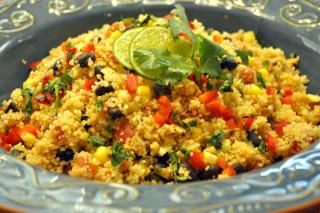 Couscous Salad with Black Beans & Corn