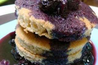 Saladmaster Recipe Gluten-Free Pancakes with Blueberry Sauce
