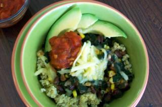 Saladmaster Recipe Greens & Beans Millet Bowl by Cathy Vogt