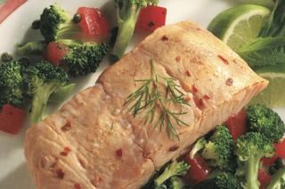 Saladmaster Recipe Salmon with Fresh Vegetables