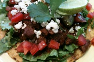 Saladmaster Healthy Solutions: Tostada Compuesta with Carne Guisada (Tostada with Braised Beef)