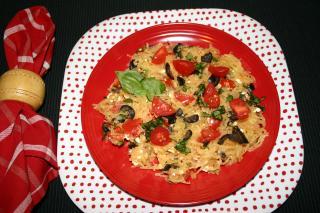 Spaghetti Squash with Tomatoes and Feta