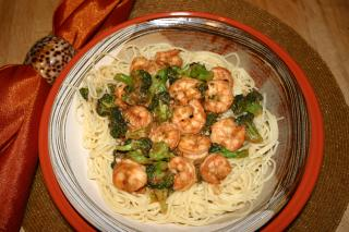 Saladmaster Healthy Solutions 316 Ti Cookware: Spicy Shrimp and Broccoli on Pasta