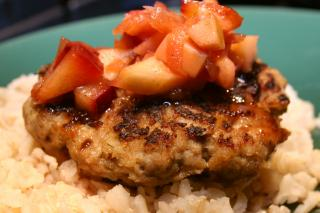 Turkey Patties with Apple & Plum Salsa