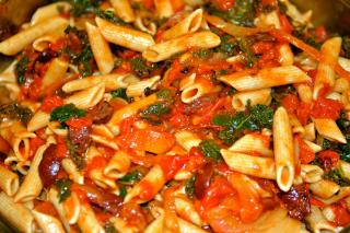 Saladmaster Recipe Penne with Kale, Tomatoes and Olives
