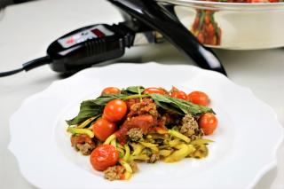 spaghetti, zucchini, noodles, z'paghetti, sauce,