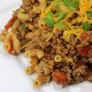 Goulash recipe, ground beef, macaroni noodles,