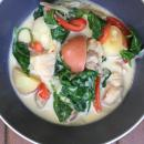filipino chicken, filipino recipes, vegetables, coconut milk