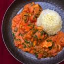 African, chicken, stew, spinach