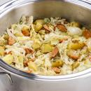 Polish Sausage Casserole, potatoes, Cabbage,