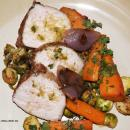 Saladmaster Recipe Pork Tenderloin & Brussels Sprouts with Chili Lime Sauce