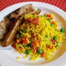 Saladmaster Recipe Yellow Rice with Pan Roasted Sausage