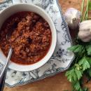Easy to make italian style bolognese sauce for pasta