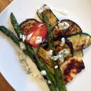 Saladmaster grilled halloumi and vegetables