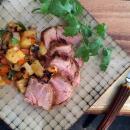 Smoky pork tenderloin for an outdoor barbecue